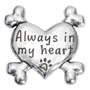 Picture of Pewter Heart Dog Magnet - Always in My Heart