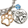 Picture of Paw Charm Bracelet - Angel w/Blue Crystal Bead